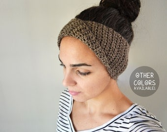 Twisted Earwarmer - Other Colors Available - Other Colors Available - Size Adult - *MADE TO ORDER*