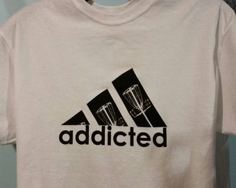 Addicted to disc golf cotton T shirt