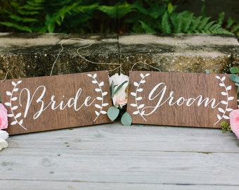 Mr and Mrs Signs, Bride and Groom Signs, Mr and Mrs Chair Signs, Mr and Mrs, Mr Mrs Table Sign,  Wooden Wedding Signs, Mr Mrs signs