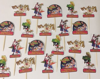 space Jam cupcake toppers (24)