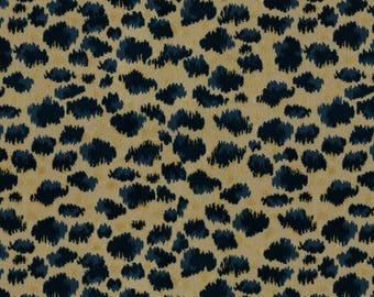 BRUNSCHWIG & FILS ZAMBEZI Grospoint Velvet Fabric 10 Yards Indigo Blue