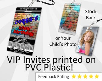 Graffiti Invitation PLASTIC Graffiti, Graffiti Invitation, Birthday Invitation, Birthday Invite, Graffiti Birthday Invitation SKU-INV124