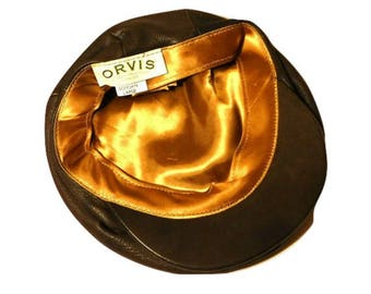 Vintage Newsboy Cap, Men's cabbie hat, Deerskin hat, Newsboy hat, Men's Newsboy cap, Driving cap, Men's hat, Men's cap, Deerskin cap L