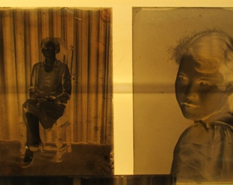 Lot 150 Glass Negative Slides Antique Photo Photography Women Children q