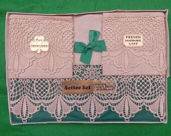 vintage Irish Linen settee set