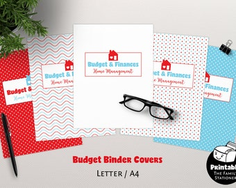 Finance Binder Covers Printable, Home Binder Printable, Budget Planner Cover, Binder Pages Printable Finance Planner Cover, TFS/M1/BC001