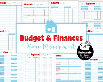 Finance Binder Printable Inserts, Budget Planner Printable , Finance Planner, Home Management Binder Pages, Letter A4, TFS/M1/BUN01