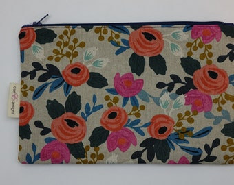 Handmade Zippered Pouch