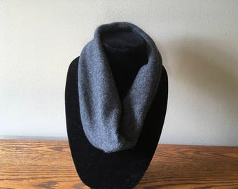 Upcycled cashmere cowl. Charcoal grey felted cashmere neck warmer. #15
