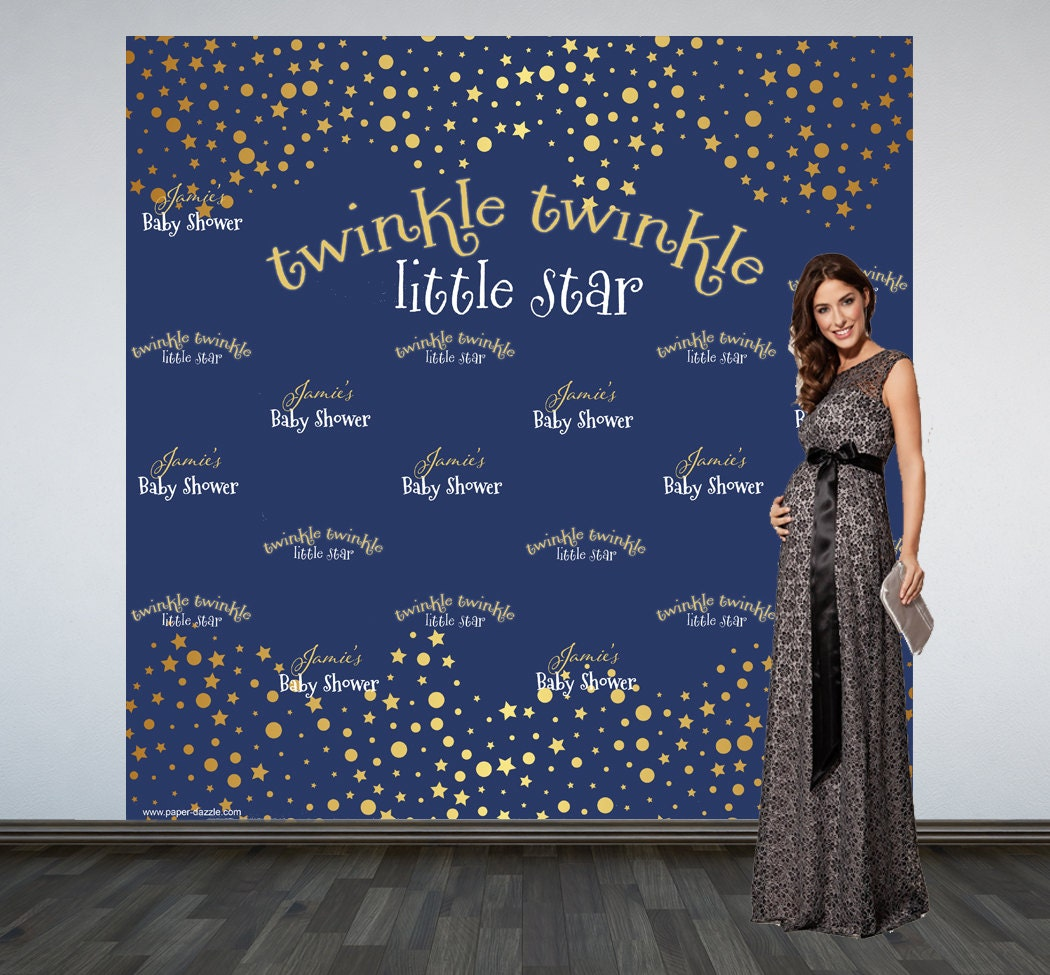 twinkle twinkle little star backdrop baby shower photo booth
