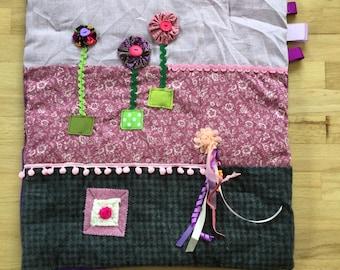 Fidget Quilts for Alzheimer's | Dementia Blanket | Fidget blanket | YO YO FOWERS by Restless Remedy