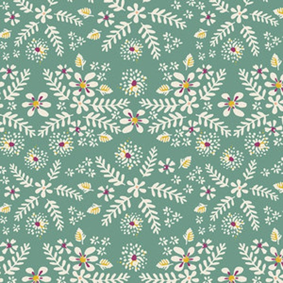 Changing Pad Cover >> Garden Dreamer Flower in Waltz >> Made-to-Order >> seafoam floral changing pad, green star changing pad, boho changing