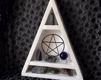 Limited edition white pentagram shelf