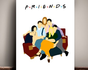 Friends // Central Perk Coffee Shop // Minimalist TV Poster // Unique Art Print