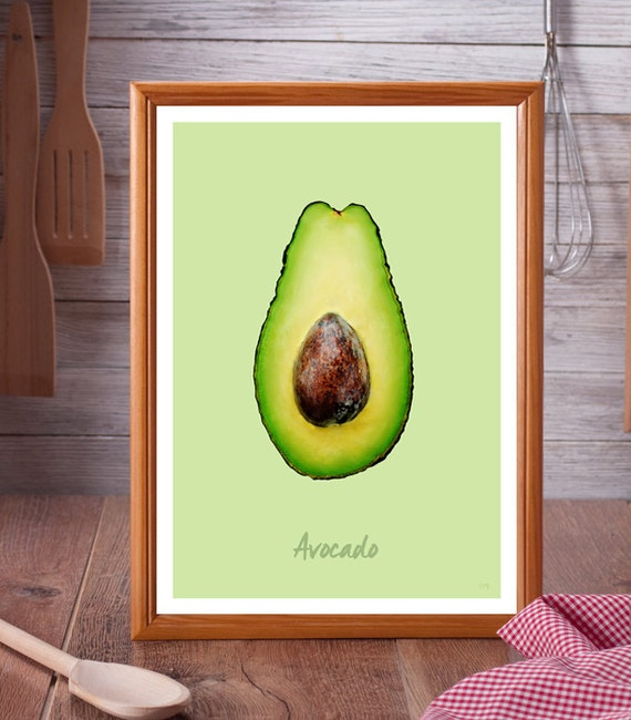 Avocado // Kitchen Art // Unique A4 / A3 Art Print