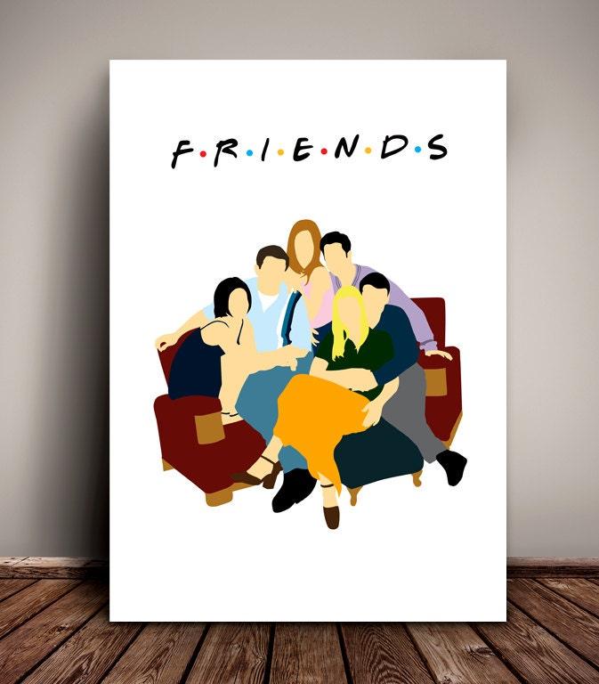 Friends // Central Perk Coffee Shop // Minimalist TV Poster // Unique A4 / A3 Art Print
