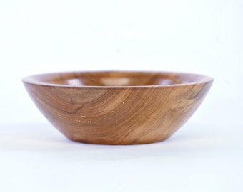 Peach Wood Salt Bowl