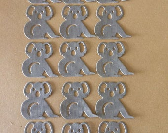 15 x little grey koala die cuts