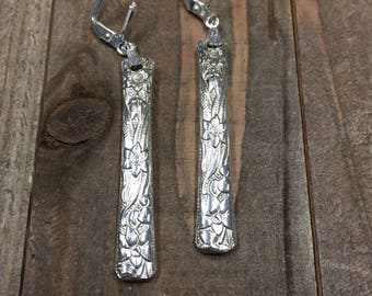 Spoon earrings, spoon jewelry, silverware jewelry, Narcissis silverplate, silver earrings, silverware earrings