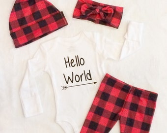 Buffalo plaid onesie | Etsy