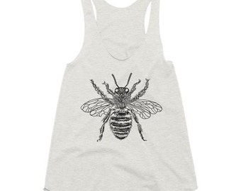 Women's Racerback Tank Top, Multiple Colors, Bumblebee, Honeybee, Bee, Gym Shirt, Workout Tank Top, Workout Clothes, Gym Life, Graphic Tee