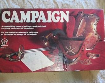 Vintage 1971 Waddingtons CAMPAIGN Board Game Napoleon Military Political Strategy 100% Comp.