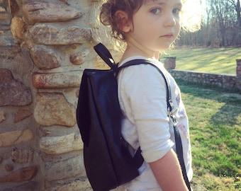 Leather Preschool backpack, toddler backpack, knapsack, childs pack, toddler bookbag, child pack, preschooler