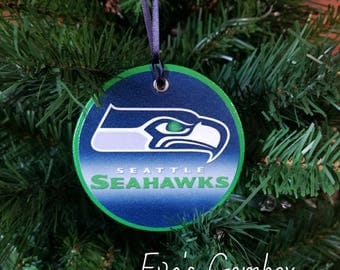 Seattle Seahawks Wood Ornaments NFL Ornaments