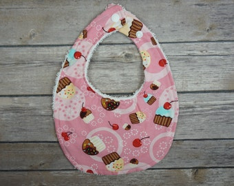 Pink Cupcakes Traditional Bib