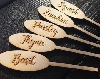Laser Engraved Birch Garden Markers