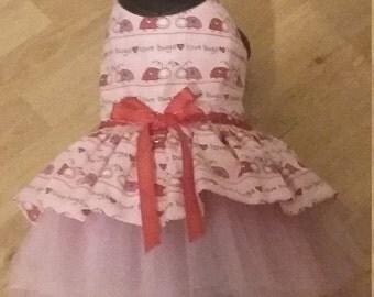 Valentine Dog Dress, Valentine outfit, Ladybug Dog outfit, dog dress