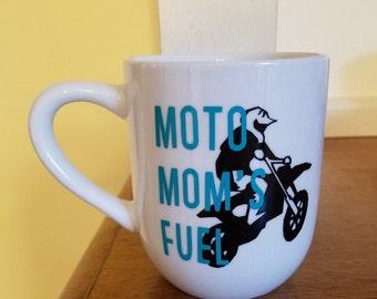 Moto Mom's Fuel Coffee Cup, Moto Mom Coffee Cup, Motocross Mom, Moto Mom, Motocross Mom Coffee Cup, Motocross, Motocross Coffee Cup, Moto