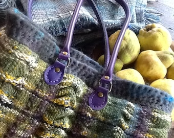 OOAK handwoven and felted bag