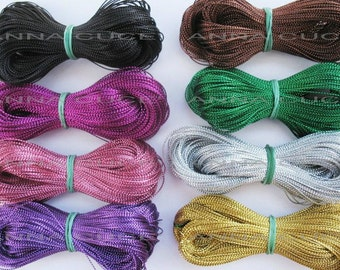 800 meters metallic wire 0.8 mm thick wire macramé, materials, colors 8 x 100 meters