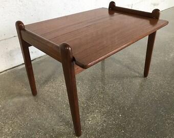 Vintage Danish Modern Vatne Lenestolfabrikk Teak Tray Table w/ Reversible Removable Top Mid Century Modern MCM Norway