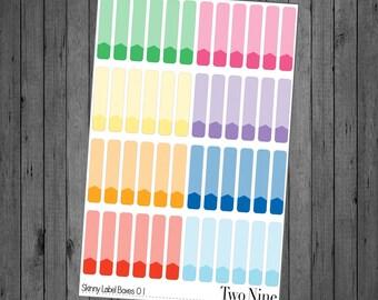 Skinny Label Boxes - Color Option 01