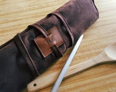 Knife roll, knife case chef case, chef roll (personalized with initials)