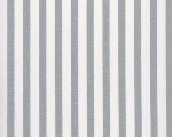 Au Maison oilcloth stripes big dusty blue coated cotton