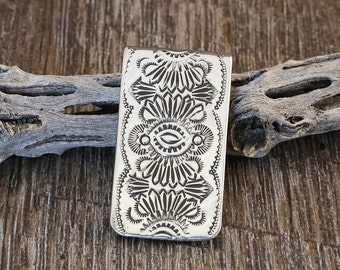 Native American,Navajo,Sterling,Money Clip,Navajo Sterling,Sterling Silver,Native American Art,Native,Navajo Sterling Silver Money Clip