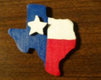 Texas Wooden Magnet