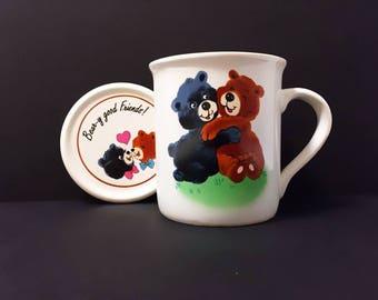 Bear-y Good Friends! Mug with Lid
