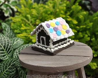 Gingerbread Cookie House for Miniature Garden, Fairy Garden