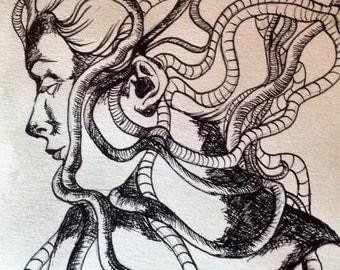 Medusa Drawing (2015) Original