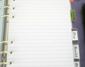 Lined Paper Filofax Kikki K Flutter Planner