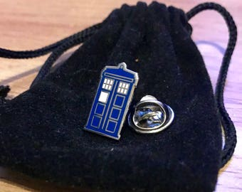 Dr Who Tardis Pin Badge, Police Box, Geek, Sci-Fi