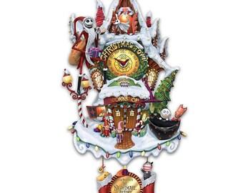 The Nightmare Before Christmas Town Cuckoo Clock - Bradford Exchange / Disney