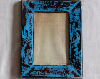 Hand-Painted Distressed Picture Frame