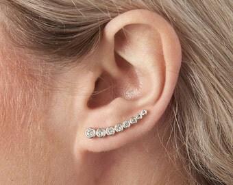 Sterling Silver Starburst Earrings (HBE06)