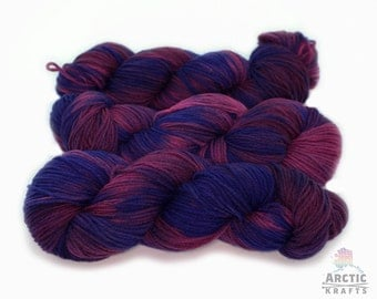 Don't Drink the Kool-Aid, Hand dyed worsted weight, merino yarn. 220 yards