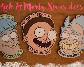 Rick and Morty Christmas Tree Decorations